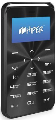 """Мобильный телефон HIPER VINYL BLACK C-01BLK черный 1,69"""" 32 Мб"""