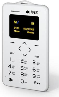 """Мобильный телефон HIPER CARD WHITE P-01WHB белый 0,96"""" 32 Мб"""