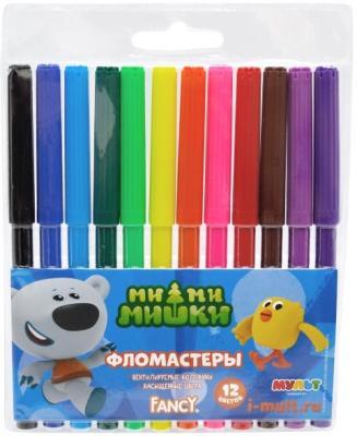 Набор фломастеров Action! Fancy 12 шт разноцветный FWP129-12 набор фломастеров action fancy 2в1 20 шт разноцветный