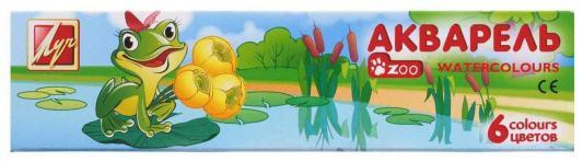 Акварель Луч Zoo 6 цветов с кистью ранцевая воздуходувка аккумуляторная greenworks 82v 2401207