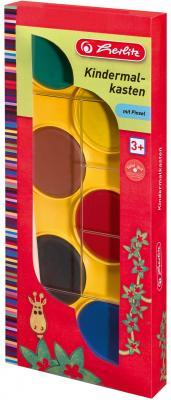 Акварель Herlitz 08640252 6 цветов с кисточкой herlitz магнит для досок smileyworld 6 шт