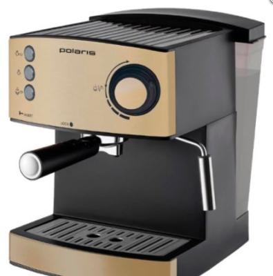 Кофеварка Polaris PCM 1527E 850 Вт золотисто-черный