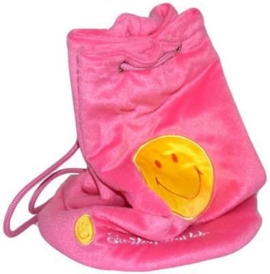 Купить Рюкзак декоративный Flavio Ferrucci со смайликом розовый BG1268, велюр, Рюкзаки и сумки для дошкольников