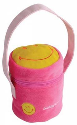 Купить Сумочка декоративная Flavio Ferrucci розовый желтый BG1269, розовый, желтый, велюр, Рюкзаки и сумки для дошкольников