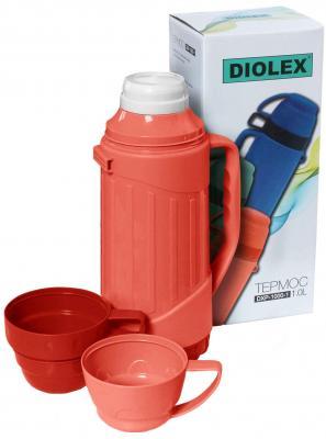 Термос Diolex DXP-1000-1-R 1л красный