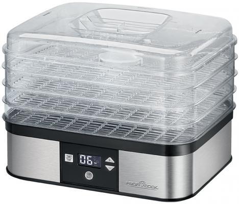Сушилка для овощей и фруктов ProfiCook PC-DR 1116 серебристый прозрачный