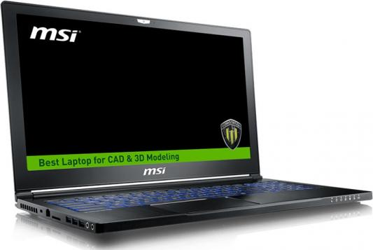 Ноутбук MSI WS63 7RK-413RU 15.6 3840x2160 Intel Core i7-7700HQ 9S7-16K232-413 ноутбук msi ws60 6qj 641ru core i7 7700hq 2 8ghz 15 6 32gb 1tb ssd256gb p3000 w10p64 9s7 16k232 413