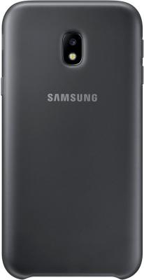 Чехол Samsung EF-PJ330CBEGRU для Samsung Galaxy J3 2017 Dual Layer Cover черный чехол клип кейс samsung protective standing cover great для samsung galaxy note 8 темно синий [ef rn950cnegru]
