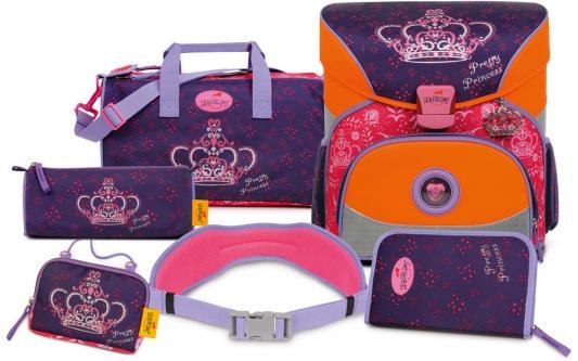 Ранец ортопедический DERDIEDAS Корона принцессы 18 л красный фиолетовый