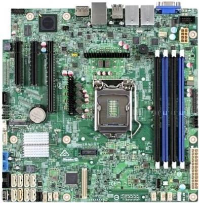 Мат. плата для ПК Intel S1200SPLR Socket 1151 C236 4xDDR4 1xPCI-E 16x 2xPCI-E 8x 8xSATAIII mATX мат плата для пк asus p10s m ws socket 1151 c236 4xddr4 1xpci e 16x 1xpci e 1x 1xpci e 8x 8xsataiii matx retail