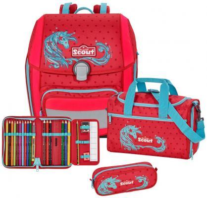 Ранец с наполнением Scout Genius Exklusiv Звездный единорог 18.5 л красный 764006-667 игрушка joy toy ралли 9383a