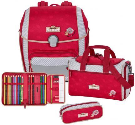 Ранец с наполнением Scout Genius Exklusiv Мышонок 18.5 л серый красный 764006-066