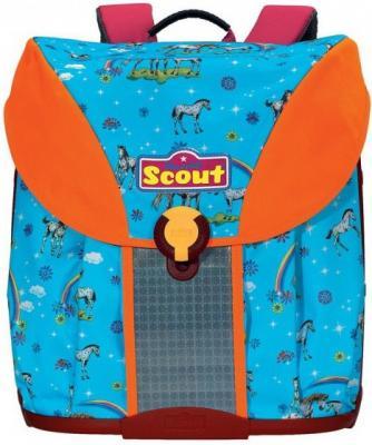 Ранец ортопедический Scout Maxi Радуга 19 л голубой оранжевый 493003-610