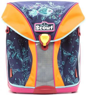 Ранец ортопедический Scout Nano Exklusiv Рыбка Пикассо 19 л синий оранжевый 714003-346