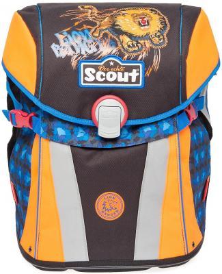 Ранец с наполнением Scout Sunny Basic Ревущий Лев 15.5 л синий оранжевый 734107-750