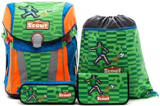 Купить Ранец с наполнением Scout Sunny Basic Футбол 15 л зеленый рисунок 734107-988, зеленый, рисунок, полиэстер, Школьные ранцы