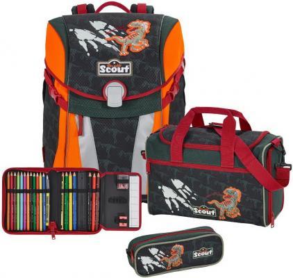 Ранец с наполнением Scout Sunny Exklusiv Укус Динозавра 15.5 л рисунок оранжевый 734106-682