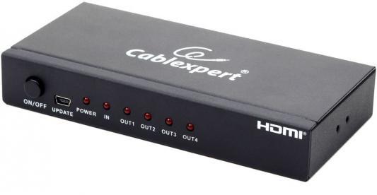 Фото - Разветвитель HDMI Gembird DSP-4PH4-02 разветвитель hdmi spliitter 1 4 3d full hd vcom 1 4v [vds8040d] каскадируемый сплиттер на 4 монитора телевизора