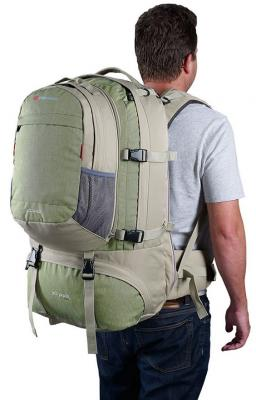 Рюкзак для путешествий CARIBEE JET PACK 65 65 л оливковый от 123.ru