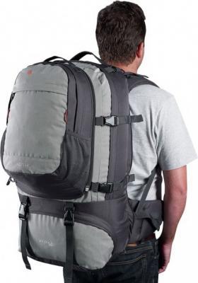 Рюкзак для путешествий CARIBEE Jet Pack 75 75 л серый черный от 123.ru