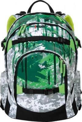 Рюкзак с уплотненной спинкой IKON 000200-10 30.5 л зеленый рисунок
