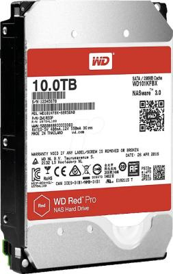 Жесткий диск 3.5 10Tb 7200rpm Western Digital Red Pro SATAIII WD101KFBX