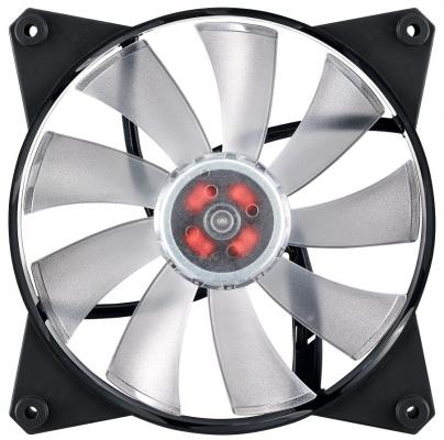Вентилятор Cooler Master Master Fan Pro 140Air Flow RGB MFY-F4DN-08NPC-R1 140x140x25mm 500-800rpm вентилятор cooler master mf200r rgb led fan r4 200r 08fc r1 200x200x25mm 800rpm