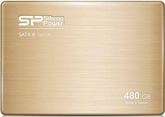 Твердотельный накопитель SSD 2.5 480 Gb Silicon Power S70 Read 557Mb/s Write 507Mb/s SATA III SP480GBSS3S70S25 пылевлагозащищенный блок питания для светодиодной ленты 60w 12v ip66 gauss 202023060
