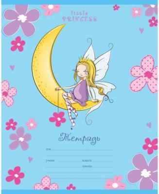 Тетрадь школьная Би Джи Little Princess 12 листов линейка скрепка Т5ск12гл 1371