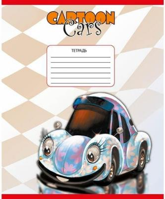 Тетрадь школьная Action! CARTOON CARS 12 листов клетка скрепка AN 1203/5