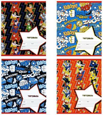 Тетрадь школьная Action! DC COMICS 12 листов линейка скрепка DC-AN 1201/1 цена