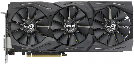 Видеокарта 8192Mb ASUS GeForce GTX1080 PCI-E 256bit GDDR5X DVI HDMI DP HDCP ROG-STRIX-GTX1080-O8G-11GBPS Retail asus geforce gtx1080 strix 1670mhz pci e 3 0 8192mb 10010mhz 256bit dvi 2hdmi 2dp strix gtx1080 a8g gami