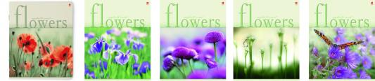 Тетрадь общая Альт «Цветы» Настроение 7-48-017 48 листов клетка скрепка в ассортименте