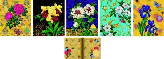 Тетрадь общая Альт «Цветы» Декор7-48-268 48 листов клетка скрепка в ассортименте