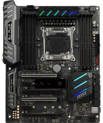 Материнская плата MSI X299 SLI PLUS Socket 2066 X299 8xDDR4 4xPCI-E 16x 2xPCI-E 1x 8 ATX Retail