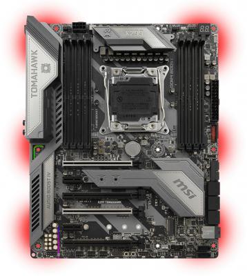 Мат. плата для ПК MSI X299 TOMAHAWK Socket 2066 X299 8xDDR4 4xPCI-E 16x 2xPCI-E 1x 8xSATAIII ATX Retail ма�� плата для пк asrock x299 taichi socket 2066 x299 8xddr4 4xpci e 16x 1xpci e 1x 10xsataiii atx retail