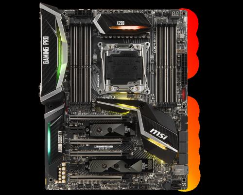 Материнская плата MSI X299 GAMING PRO CARBON Socket 2066 X299 8xDDR4 4xPCI-E 16x 2xPCI-E 1x 8 ATX Retail msi original zh77a g43 motherboard ddr3 lga 1155 for i3 i5 i7 cpu 32gb usb3 0 sata3 h77 motherboard
