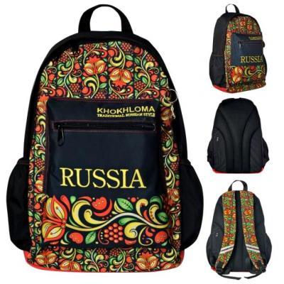 Школьный рюкзак светоотражающие материалы Action! Russia Khokhloma черный рисунок AB11105 цена