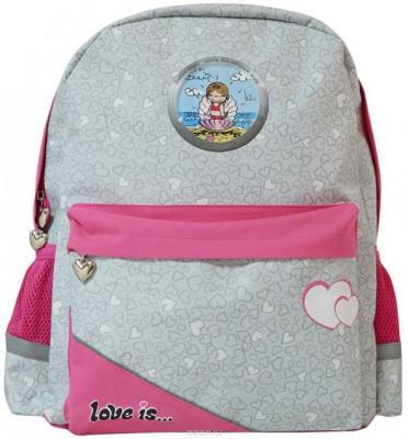 Купить Рюкзак светоотражающие материалы Action! LOVE IS 5 л серый розовый LI-AB1293/5, розовый, серый, ткань, Ранцы, рюкзаки и сумки