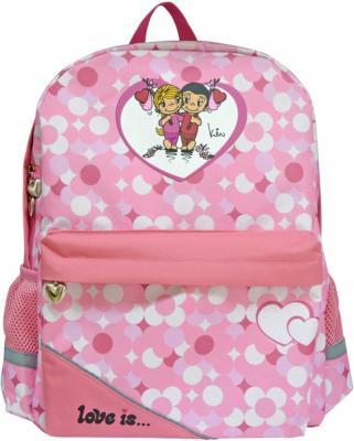 Купить Школьный рюкзак светоотражающие материалы Action! LOVE IS LI-AB1293/ASS 20 л розовый, полиэстер, Ранцы, рюкзаки и сумки