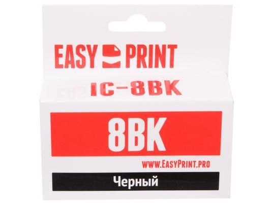 Картридж EasyPrint IC-CLI8BK для Canon PIXMA iP4200/5200/Pro9000/MP500/600 черный картридж easyprint ic cli8m для canon pixma ip4200 5200 pro9000 mp500 600 пурпурный 490стр