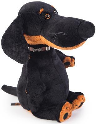 Мягкая игрушка собака BUDI BASA Ваксон в ошейнике искусственный мех пластик текстиль коричневый 27 см малышарики мягкая игрушка собака бассет хаунд 23 см