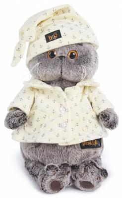 Мягкая игрушка кот BUDI BASA Басик в пижаме текстиль искусственный мех серый 30 см Ks30-024 мягкая игрушка басик в пижаме 30 см