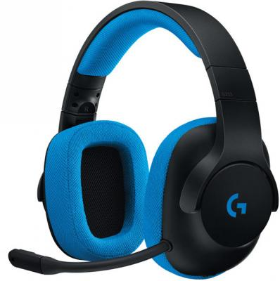 Гарнитура Logitech G233 Prodigy 981-000703 синий черный bluetooth гарнитура logitech g433 7 1 синий