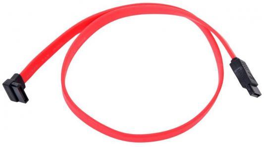 Кабель интерфейсный SATA Orient C910 0.5м угловой красный 26910