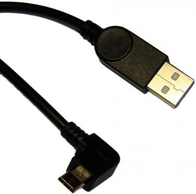 Кабель USB 2.0 AM-microBM 1.5м ORIENT MU-215B2 угловой правый поворот 90град 1.5м черный 30158