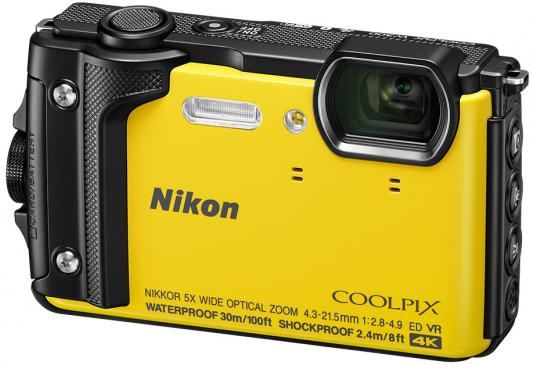 Фотоаппарат Nikon CoolPix W300 16Mp 5x Zoom желтый VQA072E1
