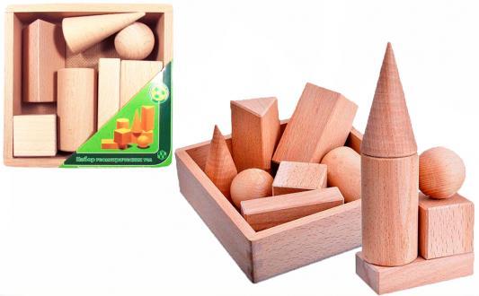Купить Кубики ПРЕСТИЖ-ИГРУШКА Геометрические тела от 3 лет 7 шт К2121, Развивающие игрушки из дерева