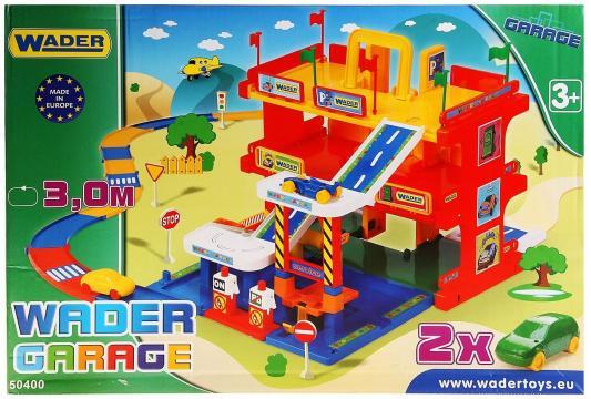 Игровой набор WADER Гараж c дорогой 50400