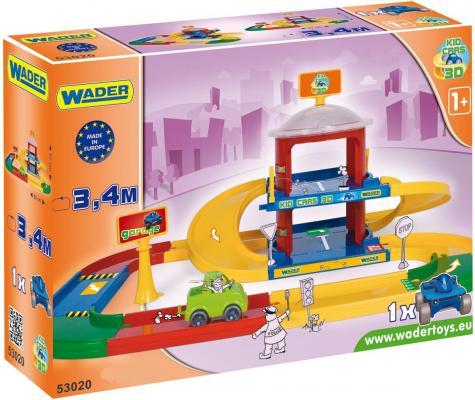 Игровой набор WADER Kid Cars 3D гараж 2 этажа  53020